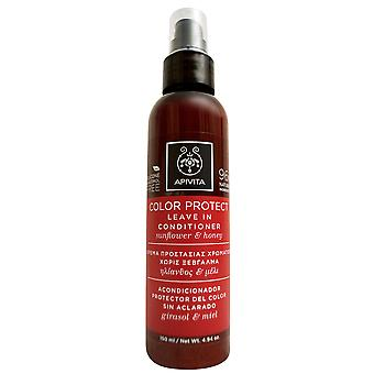 Apivita Color Protect Leave In Conditioner Sunflower & Honey 4.94 OZ
