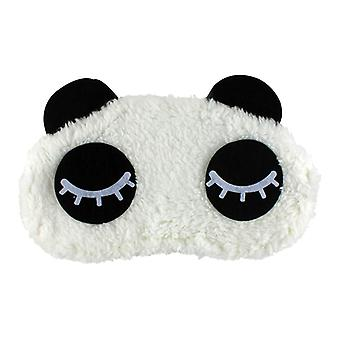 Close-up Panda, fluffy sleeping mask for travel and relaxation