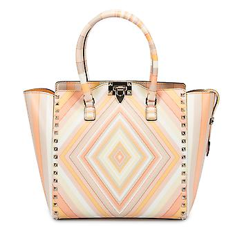 Valentino Rockstud Chevron Tote in Multicolor