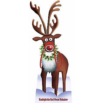 鲁道夫红鼻子驯鹿 (圣诞节) - 生活大小纸板切口 / 支架