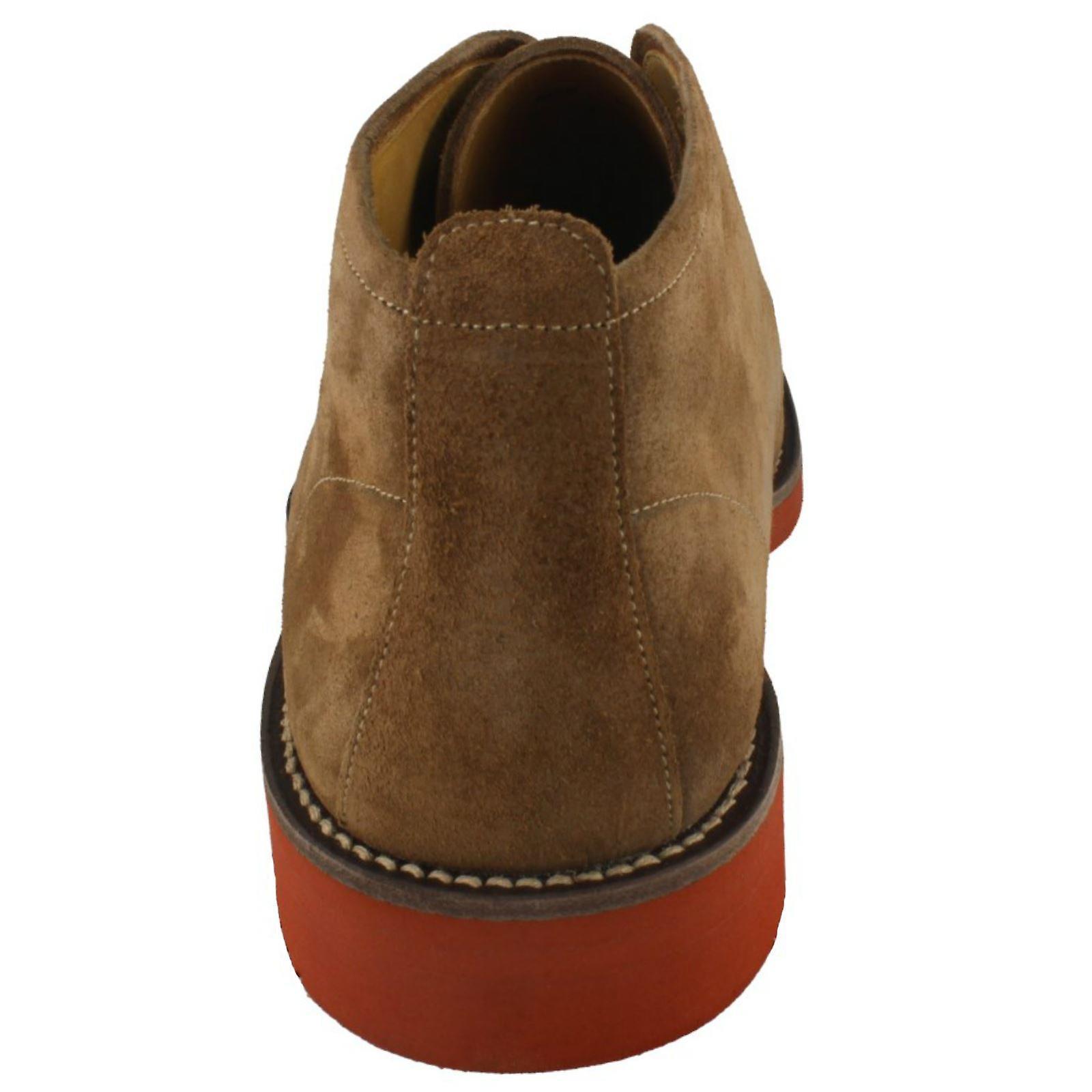 Mens Loake oljet Suede ørken støvler Lennox stil snøre