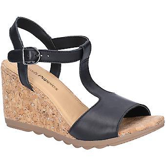 Hush Puppies Womens Pekingese Tstrap Buckle Wedge Sandals
