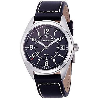Hamilton analoog kwarts mannen horloge met lederen H68551733