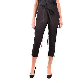 Saint Laurent Ezbc022015 Women's Black Cotton Pants