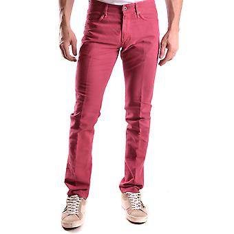Incotex Ezbc093011 Men's Red Cotton Pants