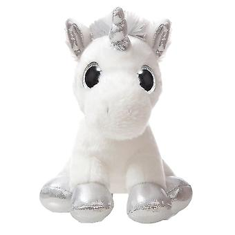 "Sparkle Tales 7"" Silver Sparkle Unicorn Plush Toy"