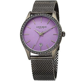 Akribos XXIV femmes quartz Swarovski accentués maille bracelet montre AK967GNPU