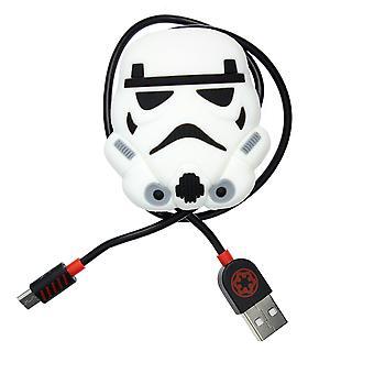 Star Wars: Storm Trooper controller opladen kabel met kabel tidy (PS4)