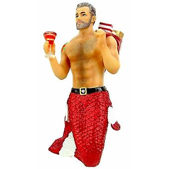 Santa pappa Merman julhelgen Ornament 6,75 Inches