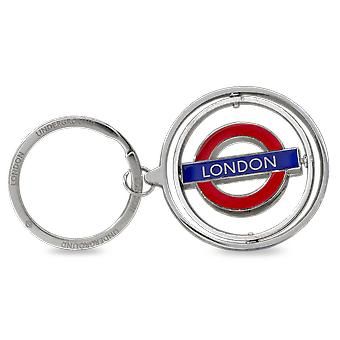 Tfl™2009 licensed spinning london roundel™ keyring
