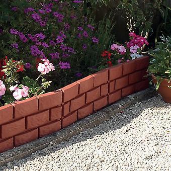 Brick Effect Garden Edging (Pack of 4)