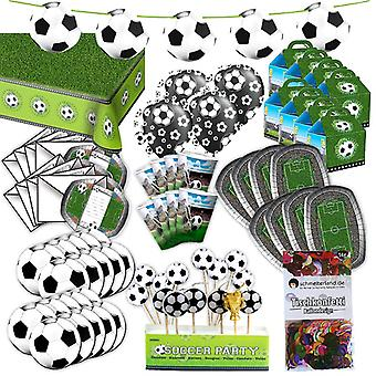 Voetbal party Kit voor 8 gasten XL 85-teilig hier is volledig alles in voetbal decoratie party pakket