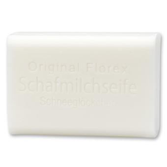Florex Schafmilchseife - Schneeglöckchen - umwerfender blumiger Duft zarter cremiger Schaum 100 g