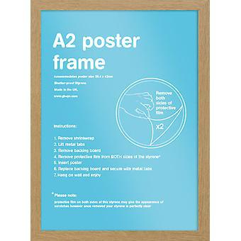 Eton marco roble A2 cartel / impresión marco