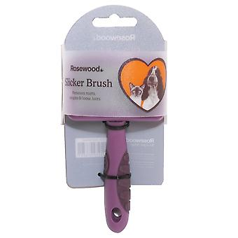 Rosewood Soft Protection Salon Grooming Slicker Brush, Small