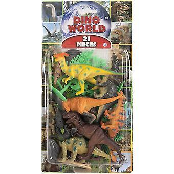 Naturalny świat 21-sza Dino 5-10cm Dinosaur Figury Zestaw