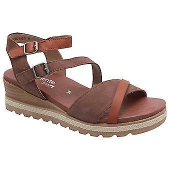 Remonte Multi Adjustable Strap Low Wedge Green Sandal