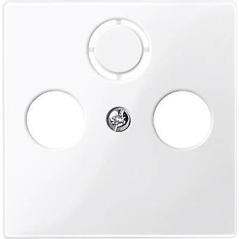 Merten Cover SAT socket System M, 1-M, M-Smart, M-Plan, M-Creativ Polar white glossy 296719