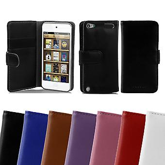 Cadorabo Case for Apple iPod TOUCH 5 Case Cover - Smooth Faux Leather Phone Case with Stand Function and Card Case - Case Cover Case Case Case Case Case Book Folding Style