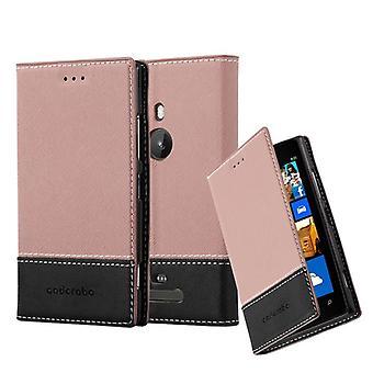 Cadorabo tilfældet for Nokia Lumia 925 sag Cover-telefon tilfældet med magnetisk lukning, stativ funktion og kort case rum-sag Cover sag sag case sag bog folde stil