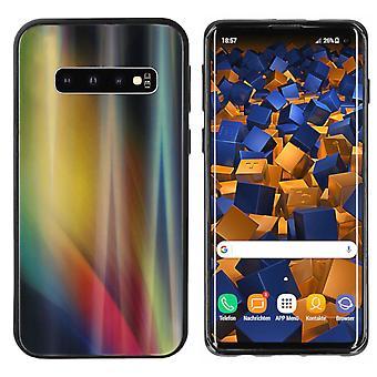 Rückenabdeckung Aurora Glas für Samsung S10 Plus Gelb
