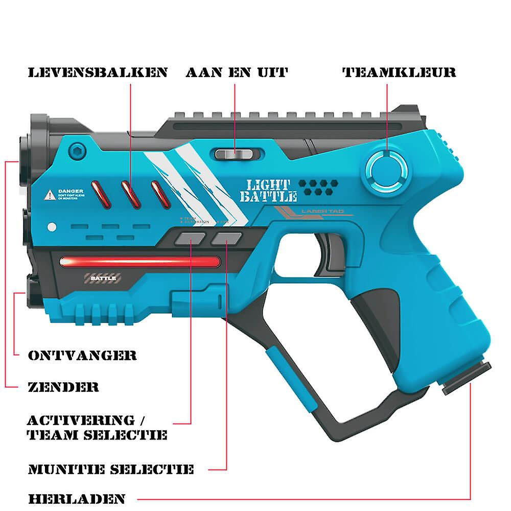 2 Anti-Cheat laser game pistols-red and blue