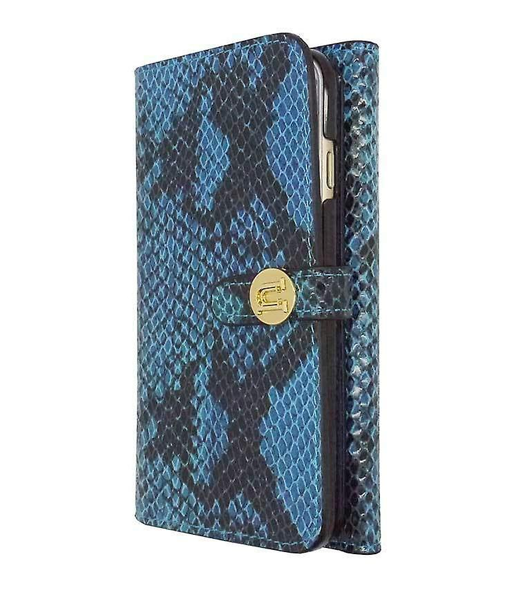 iPhone 6/6s - 4.7 Inch Luxe Exotic Folio Wallet Snake Blue