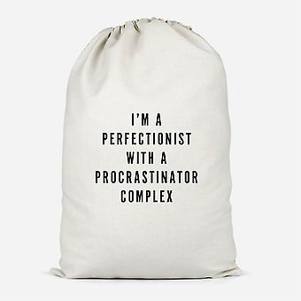 I'm A Perfectionist With A Procrastinator Complex Cotton Storage Bag