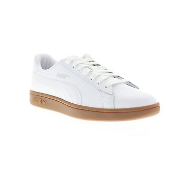 Puma Smash v2 L menns hvit skinn lav topp joggesko sko