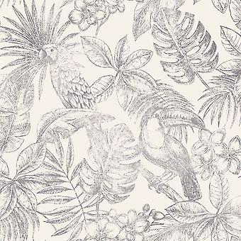 Sankuru metálico tropical wallpaper Muriva