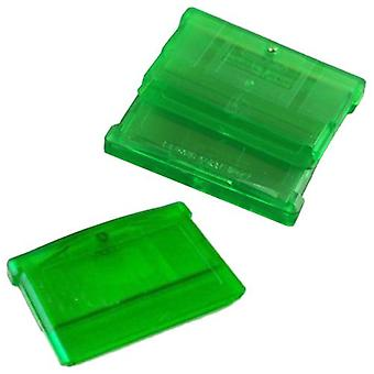 Replacement game cartridge shell case for nintendo game boy advance games - 3 pack green