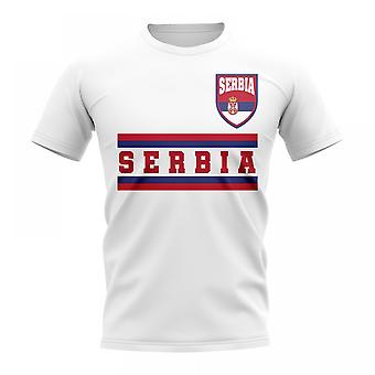Serbia Core Football Country T-Shirt (White)