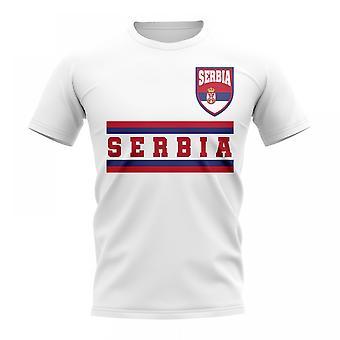 Serbien Kern Fußball Land T-Shirt (weiß)