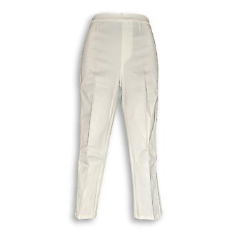 Joan Rivers Classics Collection Women's Pants Signature Ankle White A300847