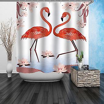 Flamingo's digitale schilderij douche gordijn