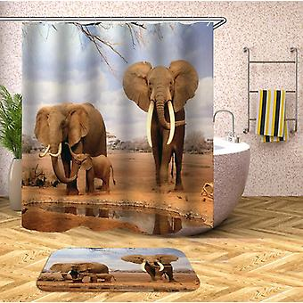 Elephants In The Wild Shower Curtain