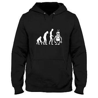Black men's hoodie evo0048 robot evolution