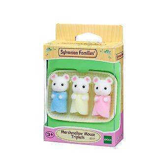 Sylvanian familier-marshmallow mus trillinger leketøy