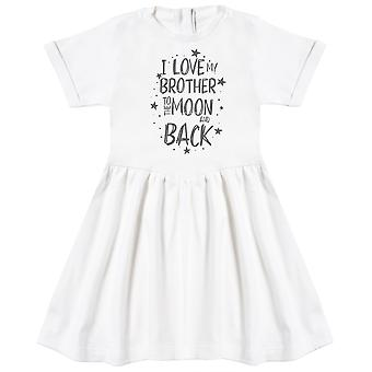 I Love My Brother To The Moon And Back Baby Dress