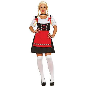 Womens Bavarian Woman Fancy Dress Costume