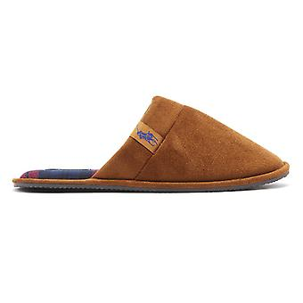 Ralph Lauren Summit Scuff Mens Snuff Tan Slippers