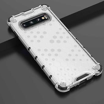 For Samsung Galaxy S10 G973F silikone sag chok hybrid TPU beskyttelse gennemsigtig sag Cover taske tilbehør ny