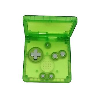 Replacement housing shell for game boy advance sp gba nintendo - clear green | zedlabz