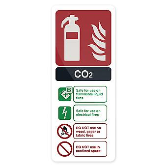 CO2 EN3 brandblusser Sign-202x82mm stijf