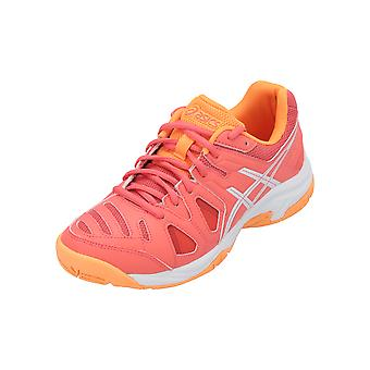 Asics Gel Game 5 GS Girls Kids Sneakers Red Sports Running Shoes