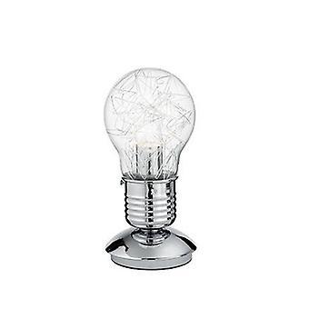 Lámpara de mesa de forma de bombilla Cromo