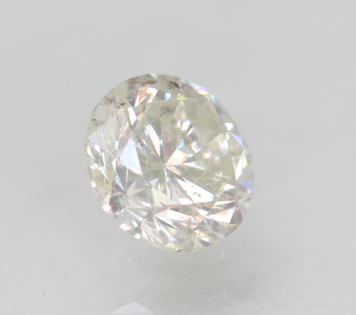 Certified 0.46 Carat F SI1 Round Brilliant Enhanced Natural Diamond 4.91m EX CUT