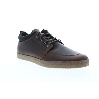 Globe GS Chukka  Mens Brown Leather Lace Up Athletic Skate Shoes