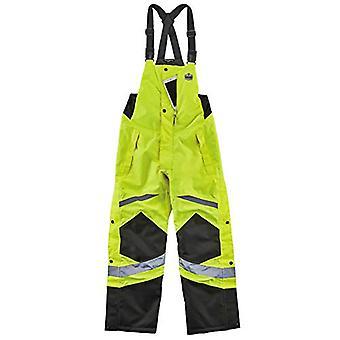 Geïsoleerde thermische bib overalls, hoge zichtbaarheid,, kalk, grootte groot
