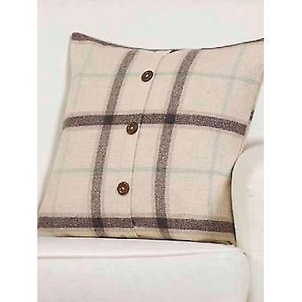 Belle Maison Cushion Cover - Plaid Check Range, Natural